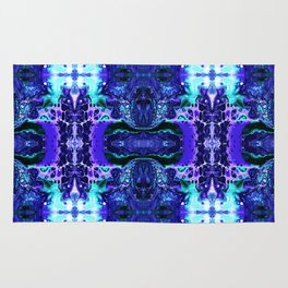 Psycho - Electric Tesla Slide Neon Blue Lighting by annmariescreations Rug