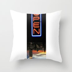 NYC: NOW OPEN! Throw Pillow