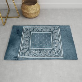 Blue Denim Bandana Rug