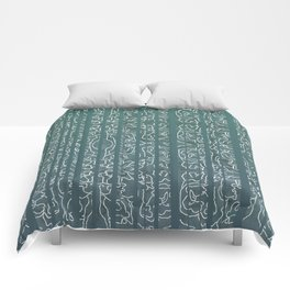 Green Stripe Comforters