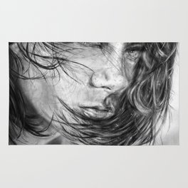 Girl portrait by Yellogfx Rug