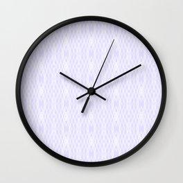 Geometric pattern on violet background Wall Clock