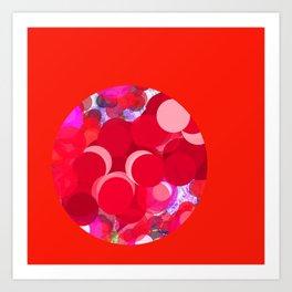 SexyPlexi dots middle ball Art Print