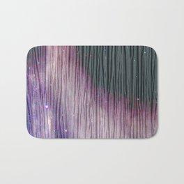 446 2 Lavender & Gray Watercolor Stain Bath Mat