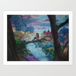 Lost In Thoughts Art Print