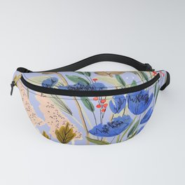 Blue Wildflowers Fanny Pack