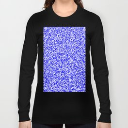 Tiny Spots - White and Blue Long Sleeve T-shirt