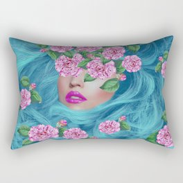 Lady with Camellias Rectangular Pillow