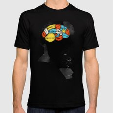 Sherlock Phrenology Black Mens Fitted Tee LARGE