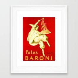 Pasta Baroni Leonetto Cappiello Framed Art Print