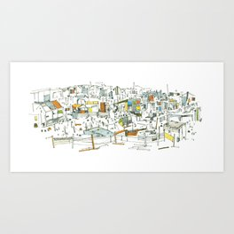 the allotments Art Print
