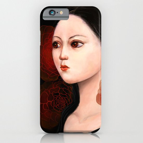She likes to be alone iPhone & iPod Case