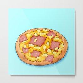 Hawaiian pizza with pineapple Metal Print