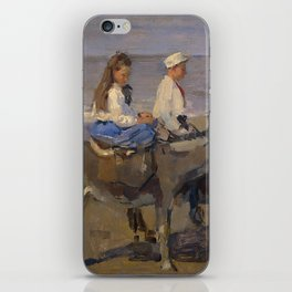 Boy and Girl Riding Donkeys - Isaac Israëls iPhone Skin