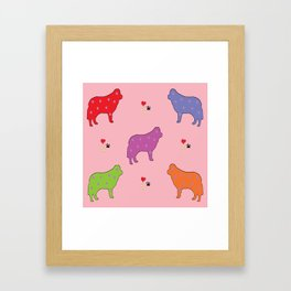 DOGS! DOGS! DOGS! Framed Art Print