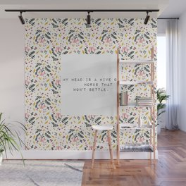 My head is a hive of words - V. Woolf Collection Wall Mural
