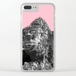 Part of Angkor Wat with pink Clear iPhone Case