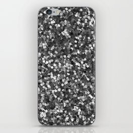 Dazzling Sparkles (Black and White) iPhone Skin