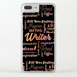 Writer Words Clear iPhone Case