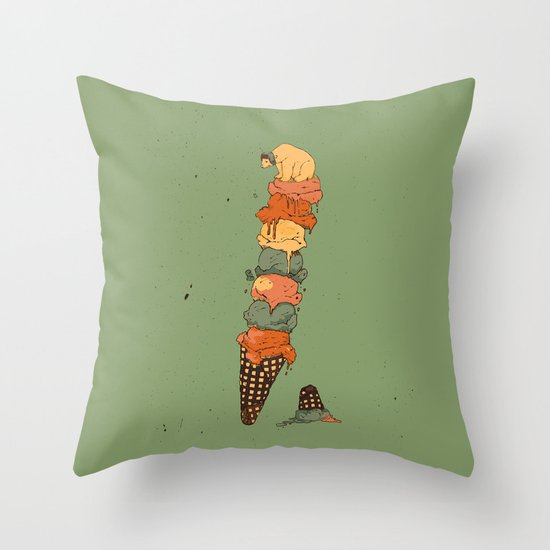 The Arctic Ice Cream Throw Pillow