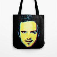 "jesse pinkman Tote Bags featuring Breaking Bad ""Jesse Pinkman"" by Steal This Art"