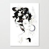 vienna Canvas Prints featuring Vienna by waterandinkprints