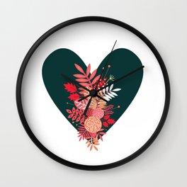 Feelings (Green) Wall Clock