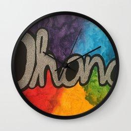 Ohana Rainbow Wall Clock