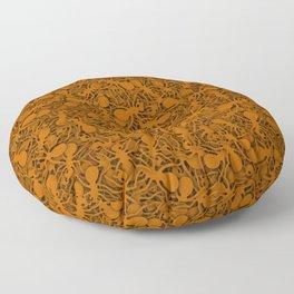 Orange ants Floor Pillow