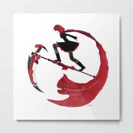 RWBY - Ruby Red and Crescent Rose Metal Print