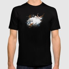 Dust-Ups: Viking vs Kraken SMALL Black Mens Fitted Tee