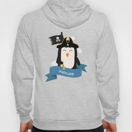 Penguin Pirate Captain from MARYLAND  T-Shirt Hoody