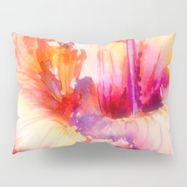 Bright Hibiscus Floral Water color Pillow Sham