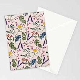 Botanical Pattern Light Peach Stationery Cards
