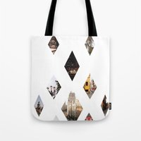 calendars Tote Bags featuring Diamante by Delphine Comte