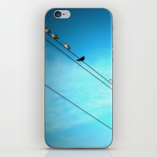 Birds on a Line fine art photography iPhone & iPod Skin