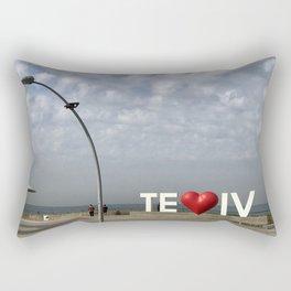 Tel Aviv Port Photography - TE(love)IV Sign Rectangular Pillow