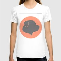 rottweiler T-shirts featuring ROTTWEILER GREY ON PEACH by Moni & Dog