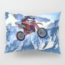 Mountain View - Dirt-bike Racer Pillow Sham