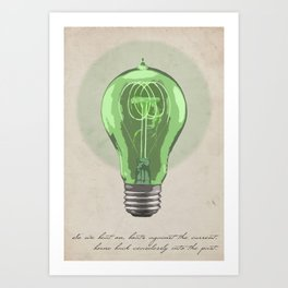 The Green Light Art Print