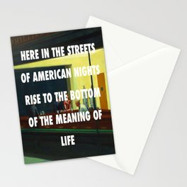 New York City Nighthawks Stationery Cards