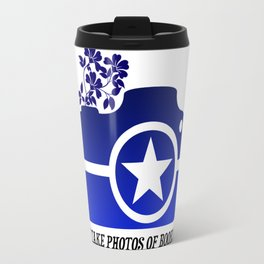 I take photos of books-blue Travel Mug