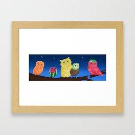 Fruit Owls Framed Art Print
