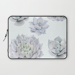 Blue Succulents Laptop Sleeve