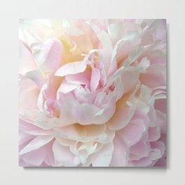 Pink Petal Flower Power Metal Print
