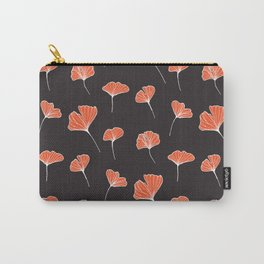 Ginkgo Biloba Leaves Pattern Dark #society6 #decor #buyart Carry-All Pouch