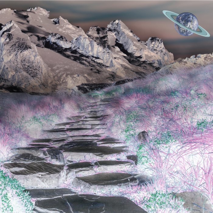 Cobble Stone Road Through The Mountains Towards Saturn Comforters