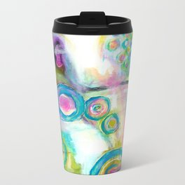 Driven To Distraction, Abstract Landscape Art Travel Mug