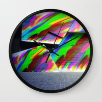 graffiti Wall Clocks featuring Graffiti by MehrFarbeimLeben