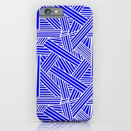 Sketchy Abstract (White & Blue Pattern) iPhone Case